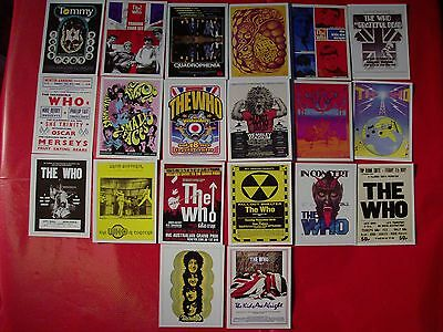 """The Who Complete Mini Trading Card Set 2""""x 3"""" with Picture Puzzle on Back"""