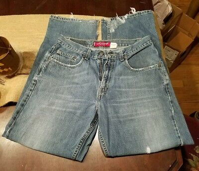 Men's Levi's 569 Loose Straight Fit Jeans 32 x 32 super distressed tears