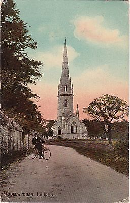 The Church & Cyclist, BODELWYDDAN, Flintshire
