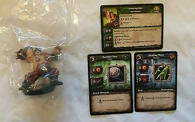 World of Warcraft Miniature Game, Crushridge Ogre figure,Core-R and cards, WoW