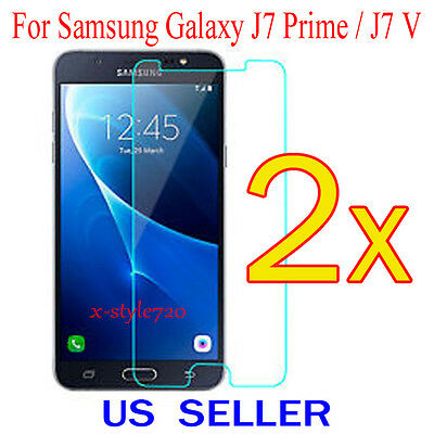 2x Clear Screen Protector Guard Cover Film For Samsung Galaxy J7 Prime / J7 V