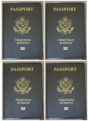 USA Quality Fast Ship 4x Passport Matte Vinyl Cover Protector Holder