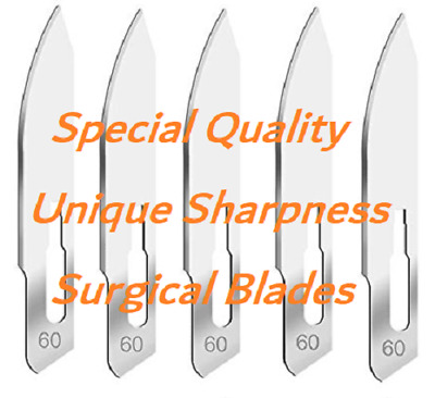 Set Of 100 Post Mortem Autopsy Sterile Surgical Scalpel Blades #60 Instruments