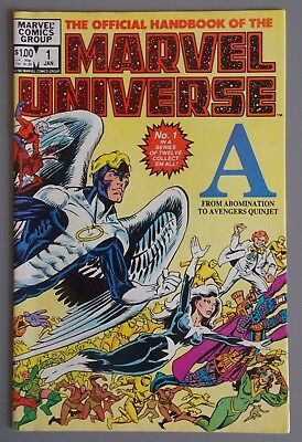 The Official Handbook of the Marvel Universe #1 (A), 1982