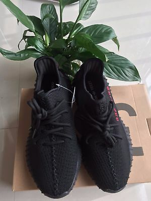 """Yeezy Boost 350 V2 Black/Red """"Bred"""" Low SPLY Kanye West Men's Size11.5 Free Ship"""