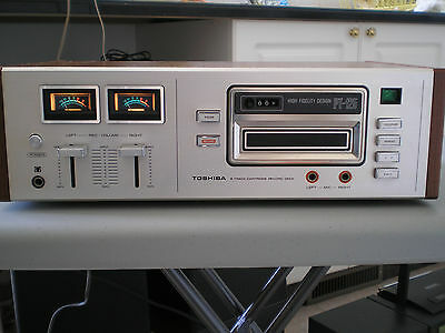 Vintage Toshiba PT-125, 8-Track cartridge record deck, sold as is
