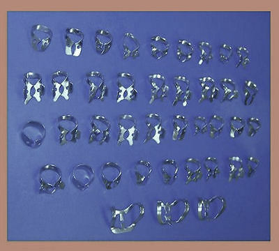 40 Pc ENDODONTIC RUBBER DAM CLAMPS Assorted DIFFERENT SIZES Dental