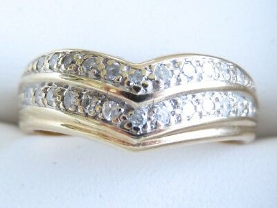 Sparkling Genuine 0.40ct Diamond Eternity Ring 9K Solid Yellow Gold