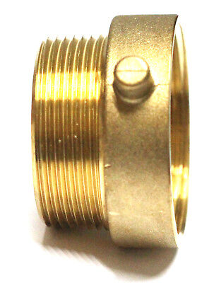 "NNI 2-1/2"" NST (NH) Female x 2-1/2"" NPT Male Fire Hose Hydrant Brass Adapter"