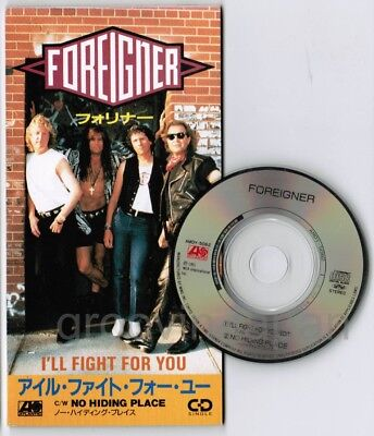 "FOREIGNER I'll Fight For You /No Hiding Place JAPAN 3"" CD SINGLE AMDY-5062 FreeS"