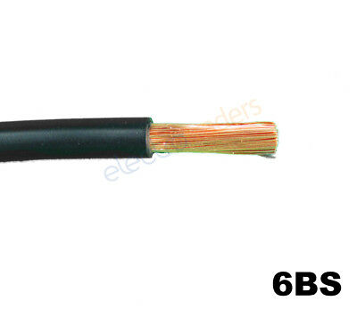 6BS Automotive Battery Starter Cable 103Amp Rating Black Per Metre