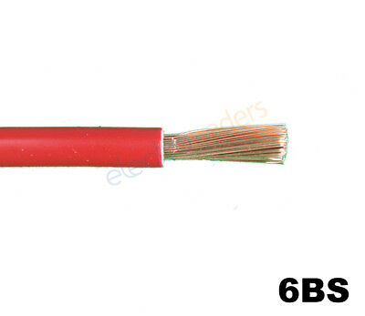 6BS Automotive Battery Starter Cable 103Amp Rating Red Per Metre