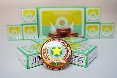 Golden Star Aromatic Balm Vietnamese   Cao Sao Vang Ointment   Box of 10g