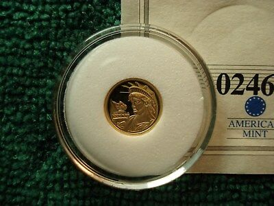 2010 Statue of Liberty Proof, Gold Coin (.5 gram, 14k gold) LAST ONE SEE PHOTO'S