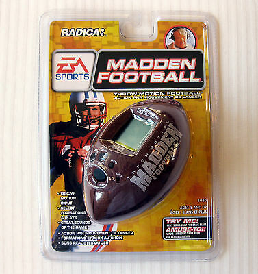 Radica ~ Madden Throw-Motion Football ~ Electronic Hand Held Game RARE NEW 90's