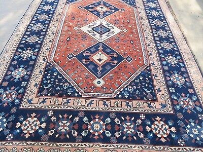 PERSIAN ALL WOOL CAUCASIAN HAND KNOTTED RUG  278cm x 170cm  apprx 9ft2in x5ft4in