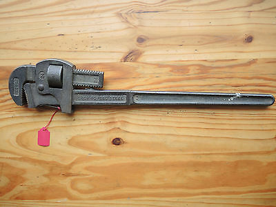 "Old Record 24"" Stilson Pipe Wrench - Good Overall Condition"