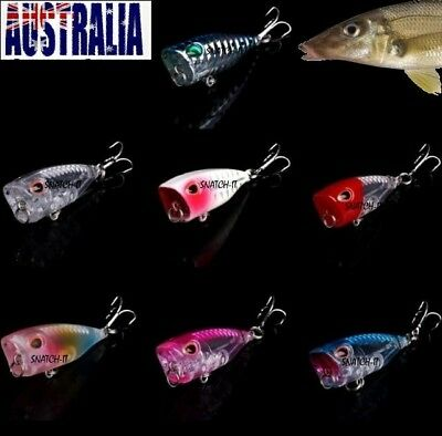 Whiting Popper Fishing Lures Hard Body 40Mm  Poppers Bream Flathead Topwater