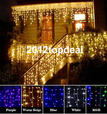 christmas outdoor decoration 3.5m Droop curtain icicle string led light 220/110V