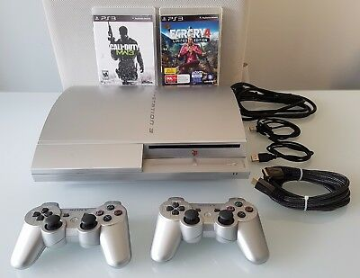 Sony Playstation 3 PS3 Limited Edition Silver Edition Console Bundle