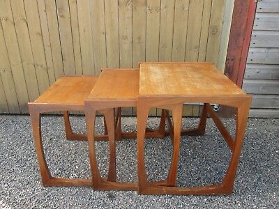Vintage Mid Century GPLAN G Plan Quadrille Nest of Tables Teak Danish Upcycle