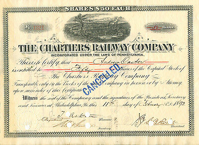 The Chartiers RW Company 1893 mit Original Signatur von George Brooke Roberts