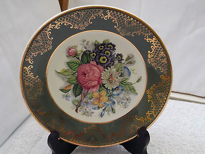 Small Royal Falcon Weatherby Decorative Plate Showing Summer Flowers