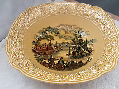 Royal Staffordshire Large Fruit / Dessert Bowl In Mustard Colour   Safe Harbour