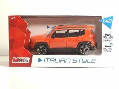 JEEP RENEGADE -MONDO MOTORS - SCALA 1/43 color arancio