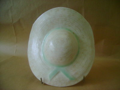 Wall Pocket In The Form Of A Straw Hat