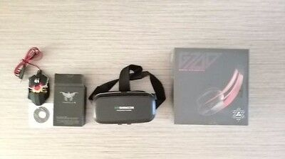 Combaterwing gaming mouse, syllable G700 Bluetooth headphone, VR Shinecon