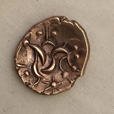 2000 year old Celtic gold stater corieltauvi south ferriby type hammered coin
