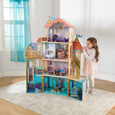 Princess Ariel Under the Sea Kingdom Dollhouse with 20 Pieces of Furniture