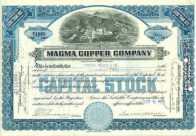 Magma Copper Company 1923 - sehr seltener Jahrgang