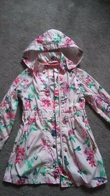 Ted Baker Girls Lightweight Floral Rain Jacket/Coat Age 4-5 Ex Cond