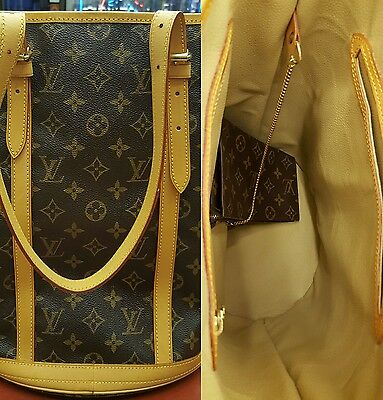 Louis Vuitton GM Bucket Bag Repair Service Replacement Of Inside Leather Lining