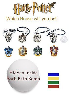 Harry Potter inspired sorting hat bath bombs & necklace lush scented unique gift