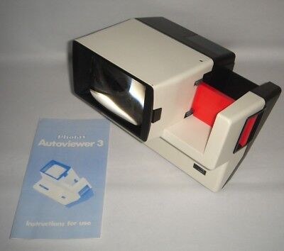 Photax Autoviewer 3 Slide Viewer 5 x 5 cm Boxed Vintage Item Made in England