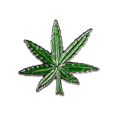 MARIJUANA LEAF ENAMEL PIN Badge Lapel Brooch Fashion Gift Jewellery WEED PN11