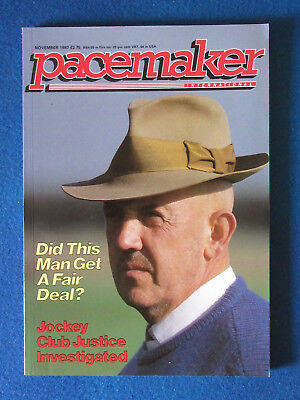 Pacemaker Magazine - November 1987 - Barney Curley Cover