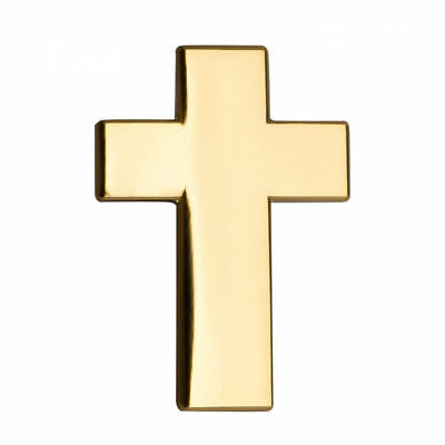 GOLD CROSS ENAMEL PIN Badge Lapel Brooch Fashion Gift Jewellery Hat PN13