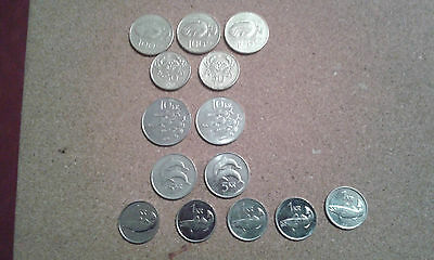 14 Iceland Coins 5 Denominations