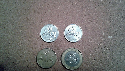4 Lithuanian Coins