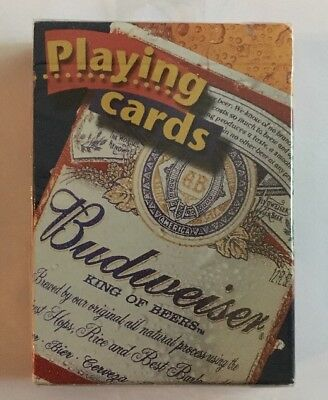 BICYCLE, BUDWEISER Playing Cards. ORIGINAL PACKAGE UNOPENED