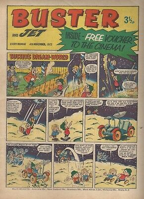 Buster and Jet 4th November 1972 FIREWORKS BRIGHT BEANO DANDY NICE COPY