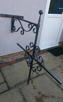 3 x Large Vintage Wrought Iron brackets / ideal for larger property