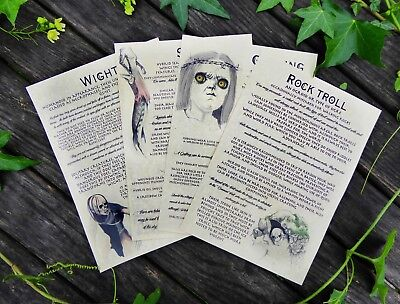 Witcher Inspired Bestiary Part 3: Journal Pages - Wight, Siren, Troll, Godling