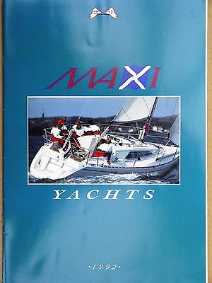 Maxi yachts range -  34, 1000, 900, 800 - original  brochure & price list 1992