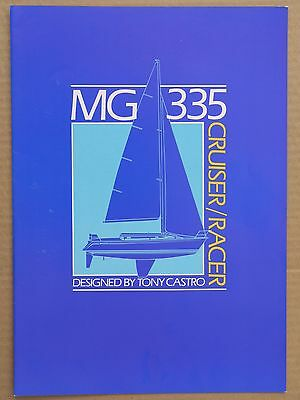 MG 335 cruiser/racer yacht original brochure, tests, prices, 1987?