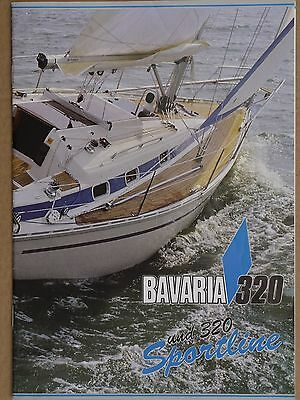 Bavaria Yachts Bavaria 320 and 320 Sportline original colour brochure 1991
